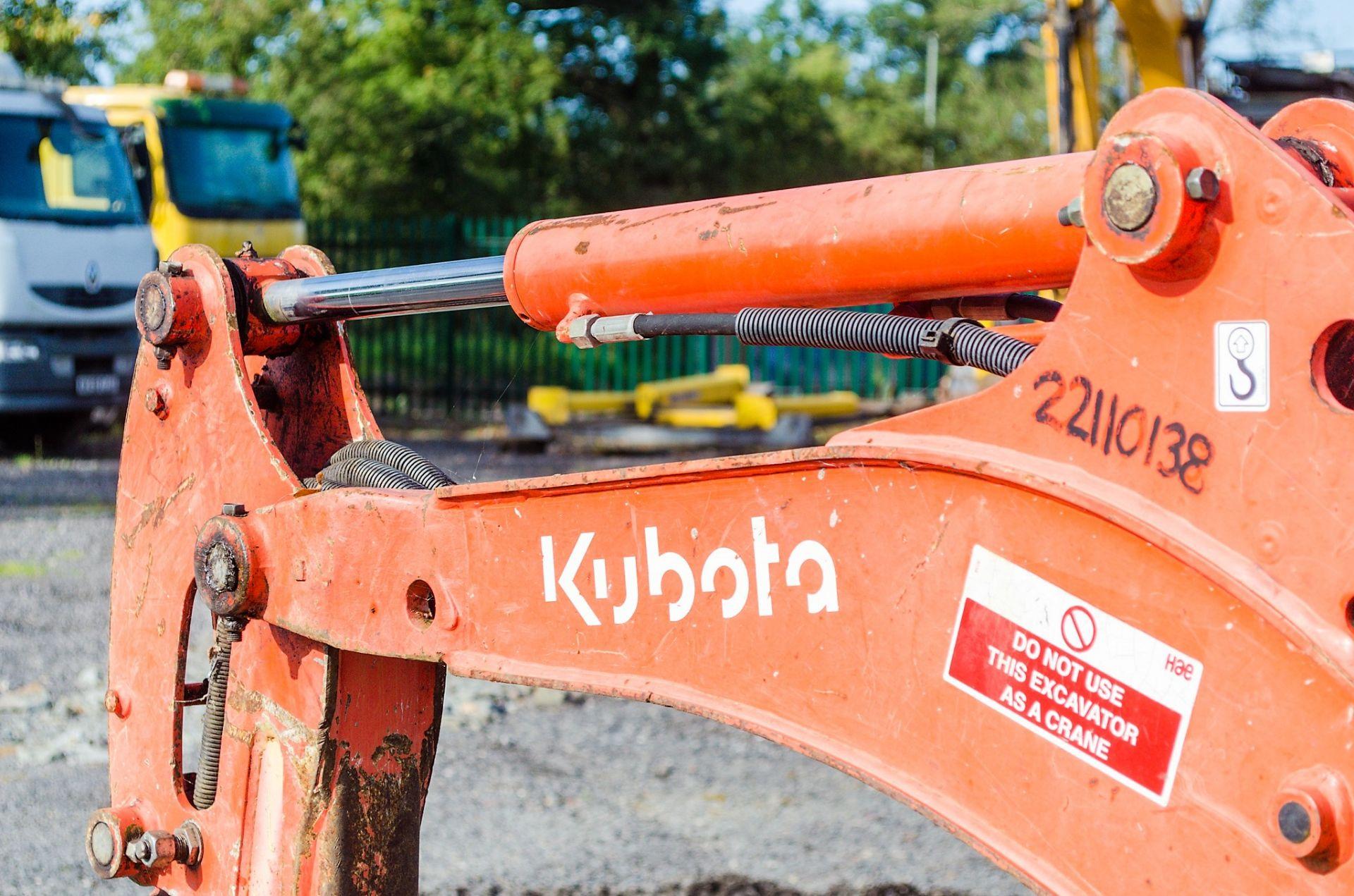 Lot 21 - Kubota KX36-3 1.5 tonne rubber tracked mini excavator Year: 2004 S/N: Z055397 Recorded Hours: 3716