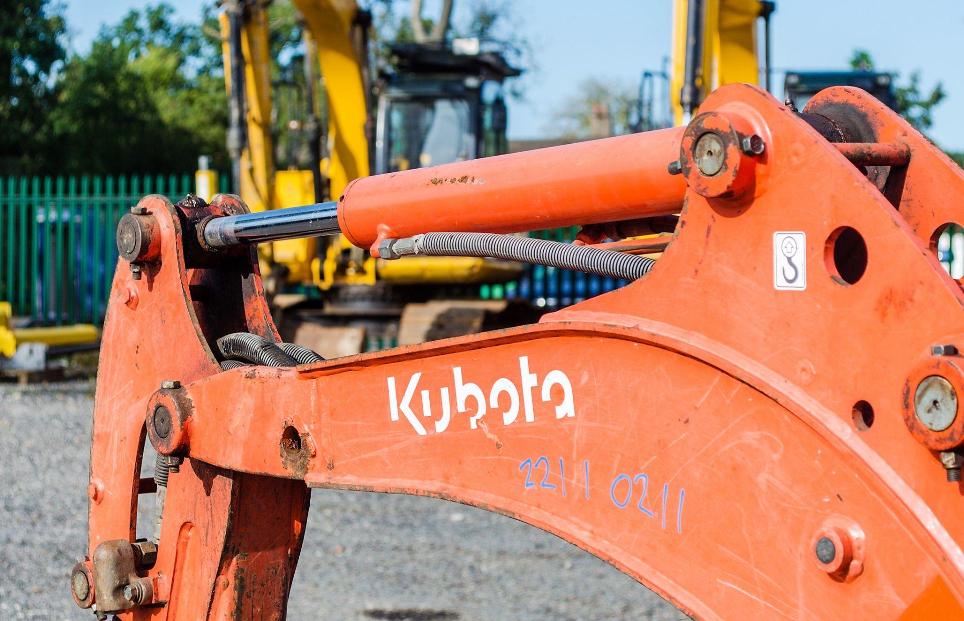 Kubota KX36-3 1.5 tonne rubber tracked mini excavator Year: 2007 S/N: Z077298 Recorded Hours: 4205 - Image 13 of 18