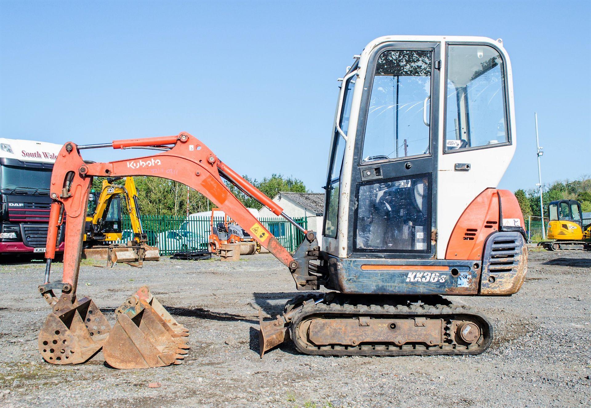 Kubota KX36-3 1.5 tonne rubber tracked mini excavator Year: 2007 S/N: Z077298 Recorded Hours: 4205 - Image 7 of 18