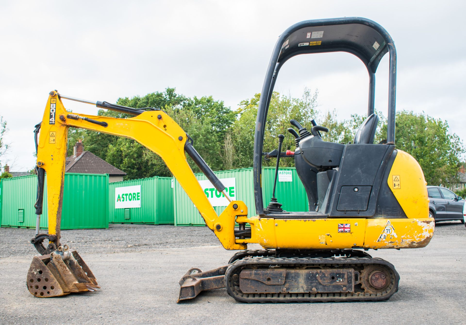 Lot 19 - JCB 8014 CTS 1.4 tonne rubber tacked mini excavator Year: 2014 S/N: 70495 Recorded Hour: 1706