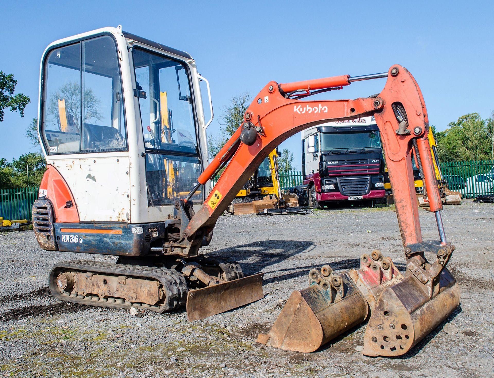 Kubota KX36-3 1.5 tonne rubber tracked mini excavator Year: 2007 S/N: Z077298 Recorded Hours: 4205 - Image 2 of 18