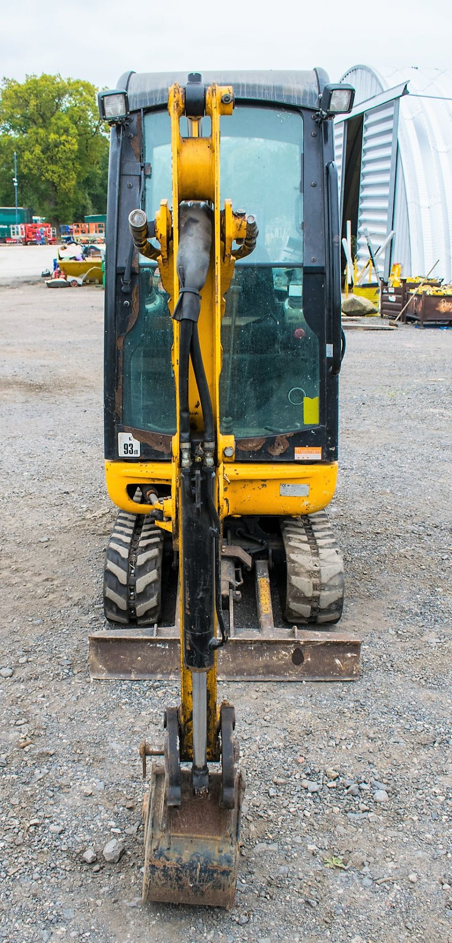 JCB 8016 1.6 tonne rubber tracked excavator  Year: 2015 S/N: 1733 Recorded Hours: 1861 A669405 - Image 5 of 20