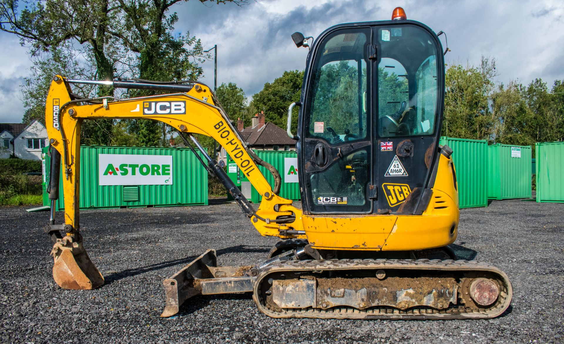 Lot 10 - JCB 8030 ZTS 3 tonne zero tail swing rubber tracked excavator Year: 2013 S/N: 2021812 Recorded