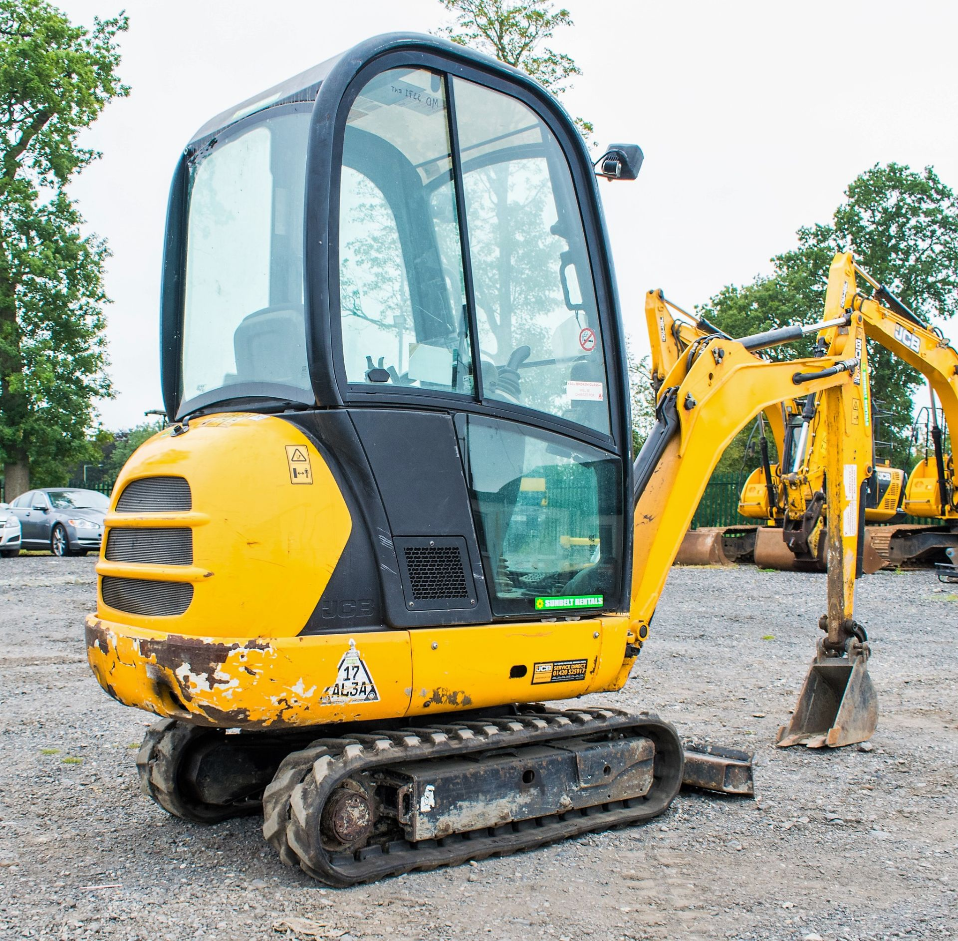 JCB 8016 1.6 tonne rubber tracked excavator  Year: 2015 S/N: 1733 Recorded Hours: 1861 A669405 - Image 3 of 20