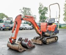 Kubota KX008-3 0.8 tonne rubber tracked micro excavator Year: 2006 S/N: Recorded Hours: 4224