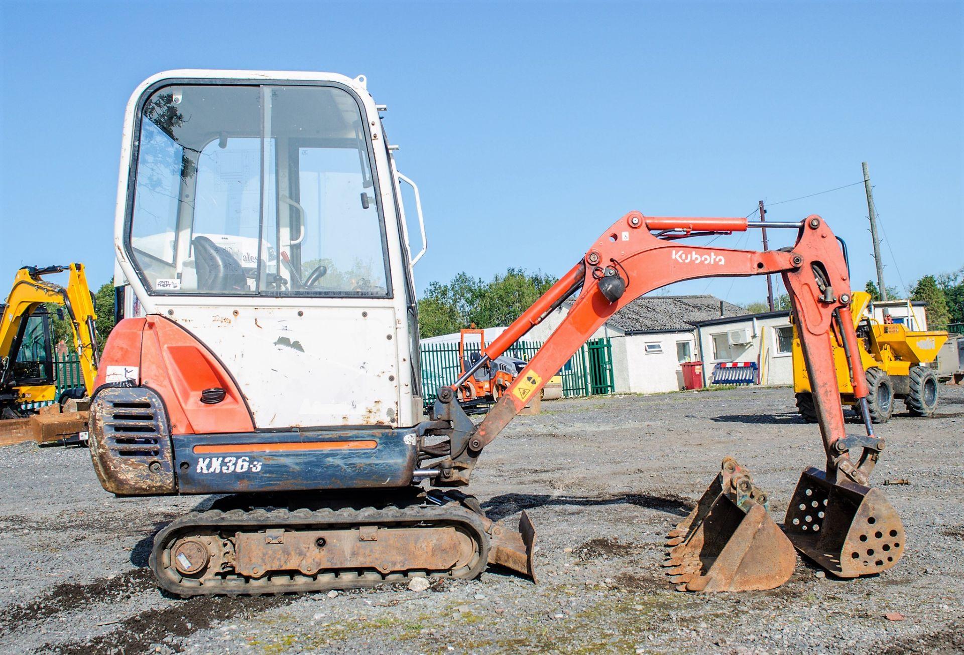 Kubota KX36-3 1.5 tonne rubber tracked mini excavator Year: 2007 S/N: Z077298 Recorded Hours: 4205 - Image 8 of 18
