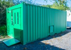21ft x 9ft steel tool storage site unit Comprising of: Lobby and tool store room  c/w: Electronic
