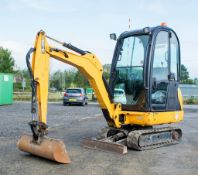 JCB 8016 1.6 tonne rubber tracked mini excavator  Year: 2013 S/N: 2071336 Recorded Hours: 1890