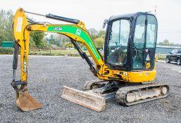 JCB 8030 ZTS 3 tonne rubber tracked zero tail swing mini excavator Year: 2015 S/N: 2432318