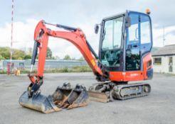 Kubota KX016-4 1.6 tonne rubber tracked mini excavator Year: 2017 S/N: 61800 Recorded Hours: 723