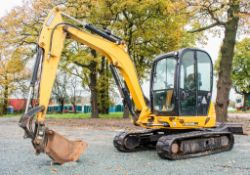 JCB 8055 RTS 5.5 tonne rubber tracked excavator Year: 2015