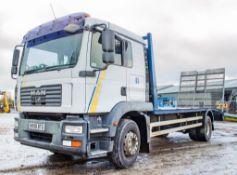 MAN TG-M 18 tonne beavertail plant lorry Registration Number: NX08 BTU Date of Registration: 23/04/