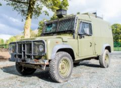 Land Rover Defender 110 300 TDi Snatch armoured 4WD utility vehicle (Ex MOD) In Service Registration