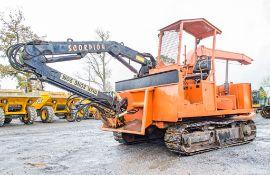 TP 120HP diesel driven steel tracked 10 inch whole tree chipper c/w crane