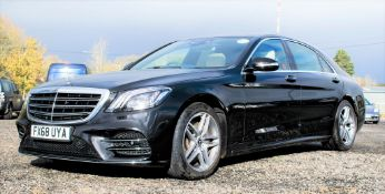 Mercedes Benz S450 L AMG Line Executive auto petrol 4 door saloon car Registration Number: FX68