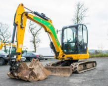 JCB 8055 ZTS 5.5 tonne rubber tracked excavator Year: 2014 S/N: 60700 Recorded Hours: 2647 piped,
