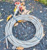 Steel rope & hook A376419