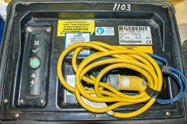 Geberit ESG 40/20 110v electrofusion machine c/w carry case