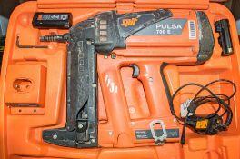 Spit nail gun c/w 2 - batteries, charger & carry case