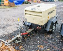 Doosan 7/20 diesel driven fast tow mobile air compressor Year: 2015 S/N: 123984 Recorded Hours: