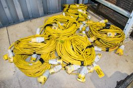 Quantity of 110v extension leads