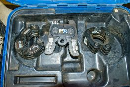 2 - Geberit press fit collars & 1 - Geberit press fit jaw c/w carry case