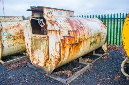 Main 2000 litre bunded static fuel bowser c/w hand pump, delivery hose, and trigger nozzle