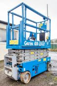 Genie GS1932 battery electric scissor lift access platform Recorded Hours: 221 0883044