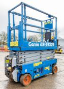Genie GS1932 battery electric scissor lift access platform Recorded Hours: 153 08830079