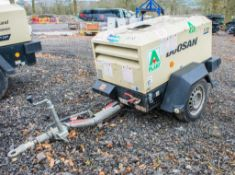 Doosan 7/20 diesel driven fast tow mobile air compressor Year: 2015 S/N: 124112 Recorded Hours: