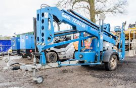 Genie TZ-34/20 battery electric fast tow articulated boom access platform Year: 2007 S/N: 3407-554