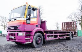Iveco 180E21 Cargo 18 tonne beaver tail plant lorry Registration Number: RK51 XGY Date of