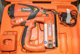 Paslode nail gun c/w battery, charger & carry case