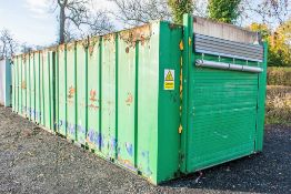 32 ft x 10 ft anti-vandal steel office site unit c/w key  A439014