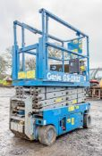 Genie GS1932 battery electric scissor lift access platform Recorded Hours: 328 08830033