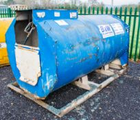 Main 2000 litre bunded static fuel bowser c/w hand pump, delivery hose, and trigger nozzle 901