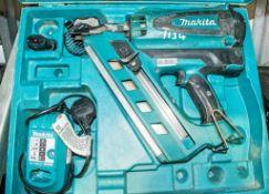 Makita nail gun c/w battery, charger & carry case