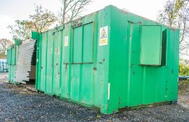 32 ft x 10 ft anti-vandal, steel office site unit ** Damaged, recommended viewing before buying **