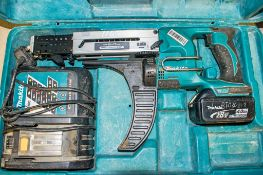 Makita 18v cordless screw gun c/w battery, charger & carry case