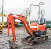 Kubota K008-3 0.8 tonne rubber tracked micro excavator Year: 2011 S/N: 22391   EXC111 Recorded