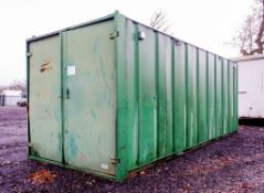 21 ft x 9 ft steel site store unit c/w key