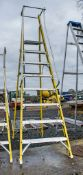 Clow 8 tread fibreglass framed step ladder A778024