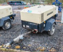 Doosan 7/41 diesel driven fast tow mobile air compressor Year: 2015 S/N: 433851 Recorded Hours: