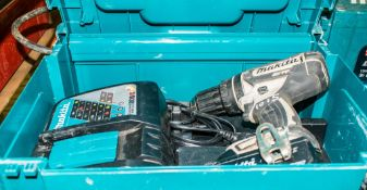 Makita 18v cordless power drill c/w battery, charger & carry case A1083982