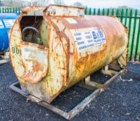 Main 2000 litre bunded static fuel bowser c/w hand pump, delivery hose, and trigger nozzlec/w