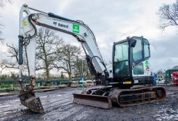 Bobcat E85 8.5 tonne rubber tracked mini excavator Year: 2014 S/N: 11966 Recorded Hours: 3664 blade,