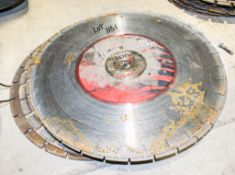 13 - 450mm used diamond cutting discs