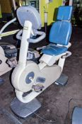 Technogym Excite 700i recumbent recline exercise bike ** No VAT on hammer price but VAT will be