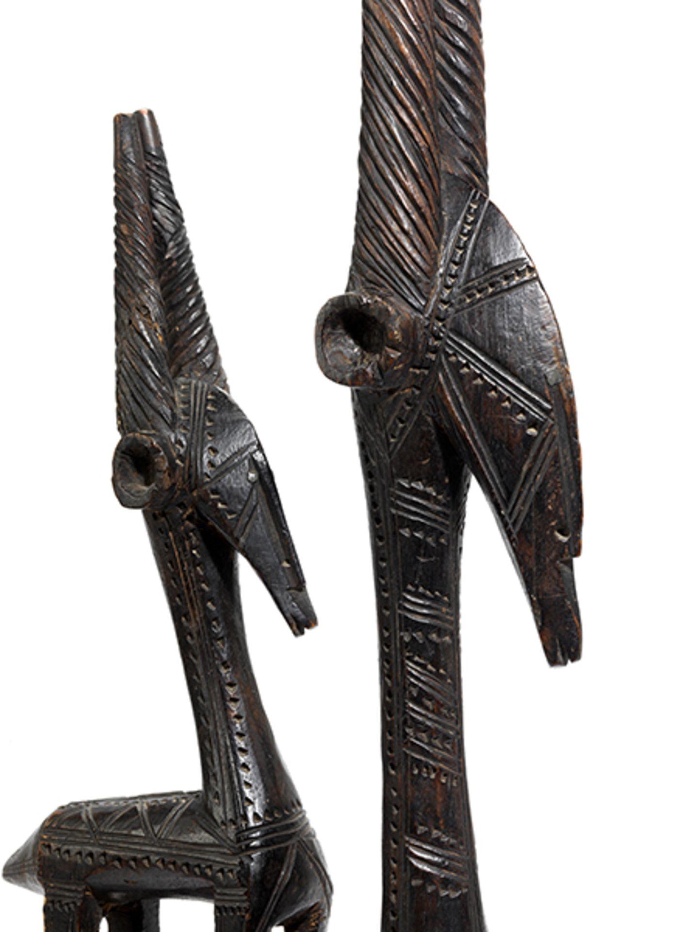 Los 890 - Bamana-Aufsatzmaske Höhe: 83 cm. Volk der Bamana, heutiges Mali. Solche Bamana-Schnitzwerke...