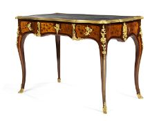 """Bureau plat im Louis XV-Stil 77 x 113 x 62,5 cm. Signiert und datiert """"Henry Dasson 1882"""". Paris,"""